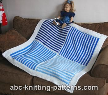 Easy Garter Stitch 4 Patch Baby Blanket