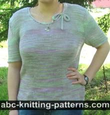 Summer Top with Applied I-Cord