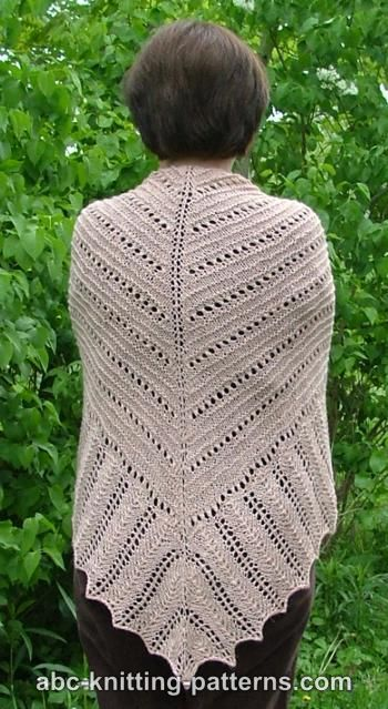 Abc Knitting Patterns Hills And Valleys Lace Shawl