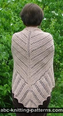 Hills and Valleys Lace Shawl