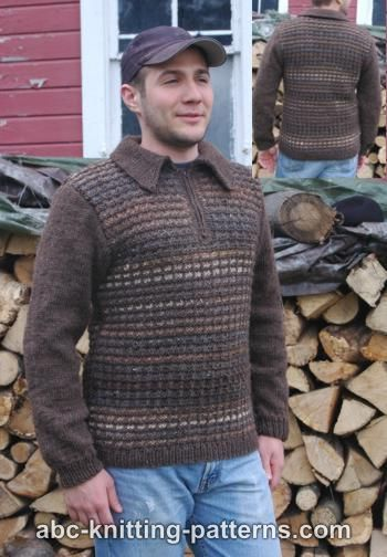 a15124605934c4 ABC Knitting Patterns - Noro Yarn Men Zipper Sweater