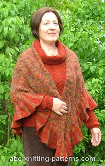 Autumn Shawl with Ruffle