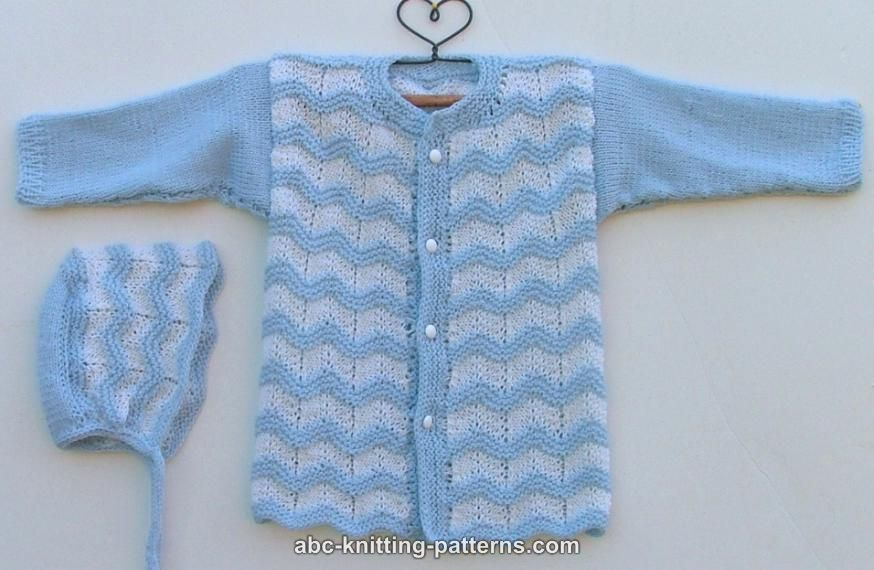 Abc Knitting Patterns Baby Ripple Cardigan