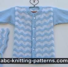 ABC Knitting Patterns - Baby Ripple Bonnet with Applied I-Cord