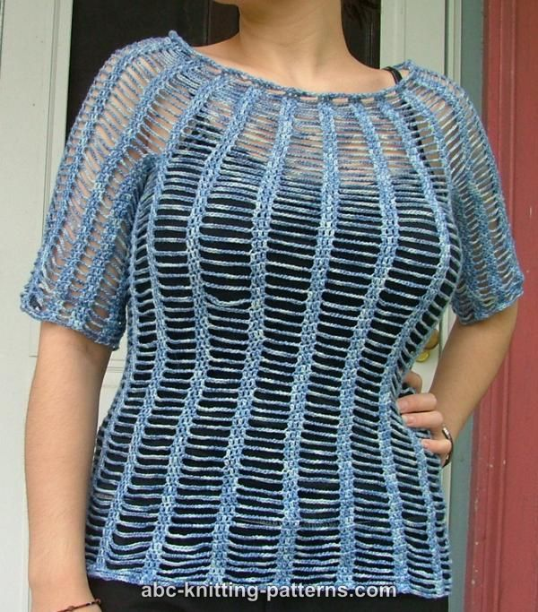 Summer Knitting Patterns : Abc knitting patterns summer chain top