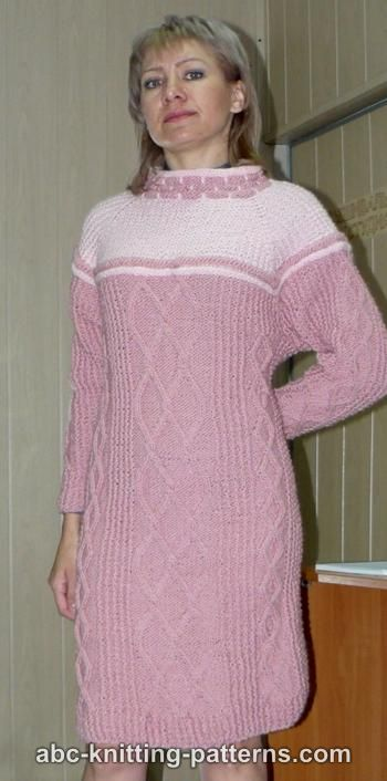 Abc Knitting Patterns Seamless Cable Dress