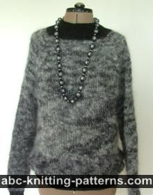 Circular Knit Mohair Sweater