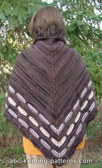 Garter Stitch Shawl with Slip Stitch Border