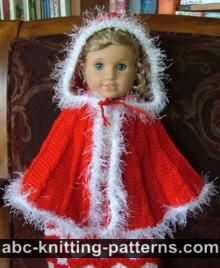 American Girl Doll Cape with Hood