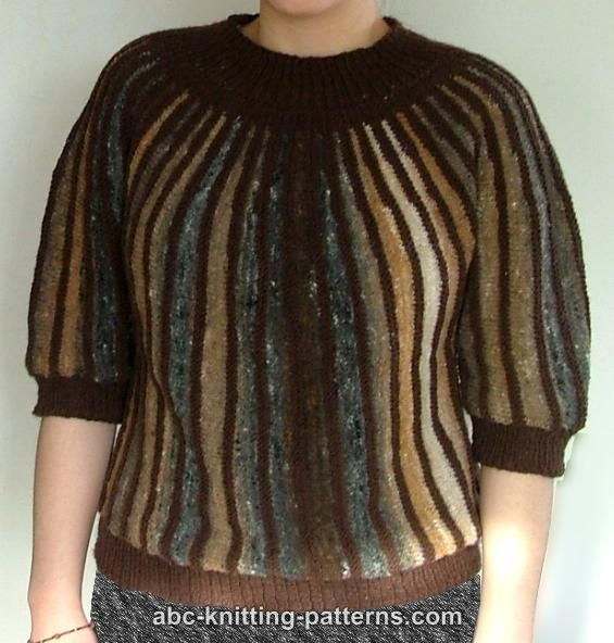 Knitting Pattern Striped Sweater : ABC Knitting Patterns - Striped One-Piece Noro Yarn Sweater