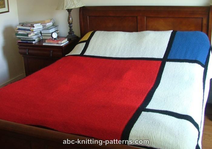 Abc Knitting Patterns Mondrian Throw
