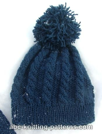 Abc Knitting Patterns Child Cable Hat