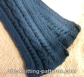 Free Knitting Pattern - Cable Scarf - Crafts - Free Craft Patterns