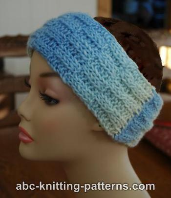 abc knitting patterns broken rib headband