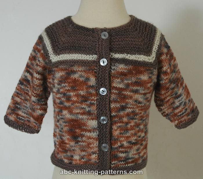 ABC Knitting Patterns - Baby Seamless Cardigan