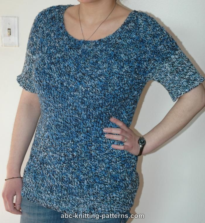 Sleeve Knitting Pattern : SHORT SLEEVE KNITTING PATTERNS - FREE PATTERNS