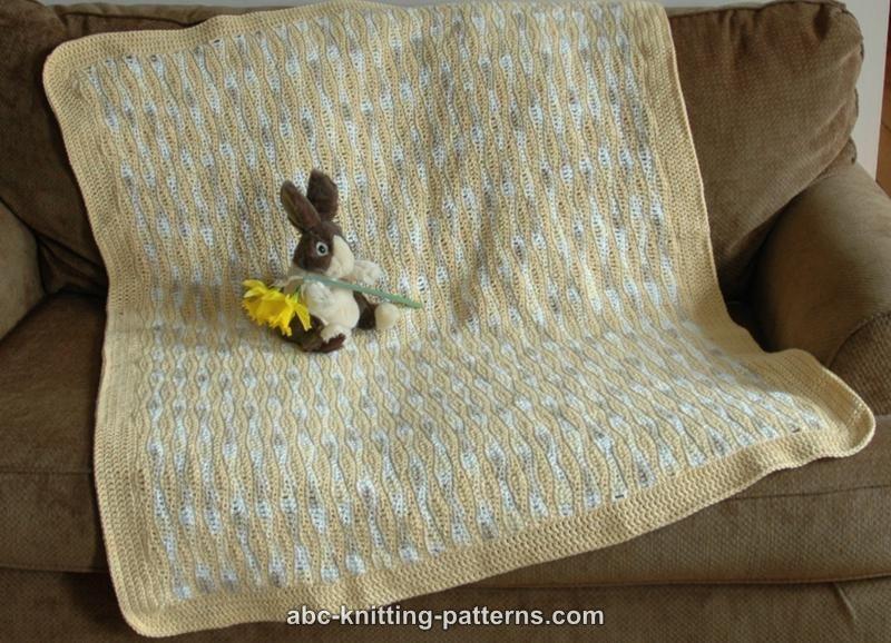 Abc Knitting Patterns Sunny Waves Baby Blanket