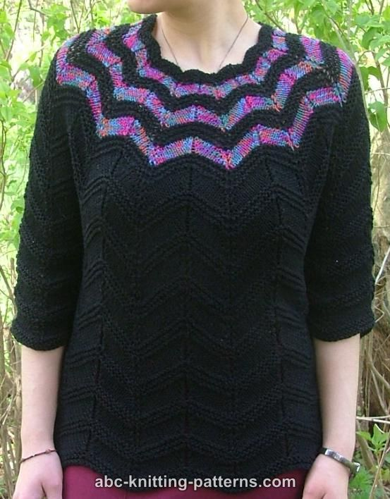 Knitting Top Down Patterns : Top down sweater free patterns memes