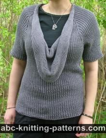 Top Down Cowl Raglan Sweater