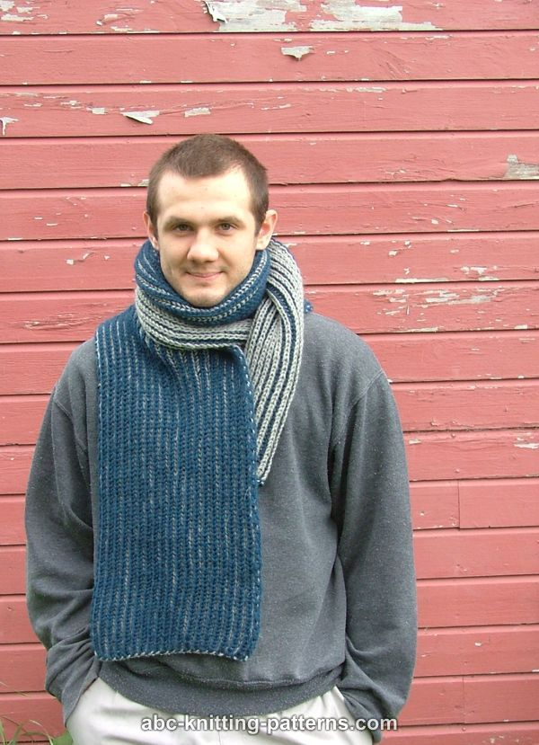 Abc Knitting Patterns Two Color Brioche Scarf