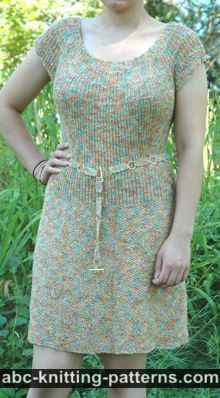 Summer Dress with the Round Yoke