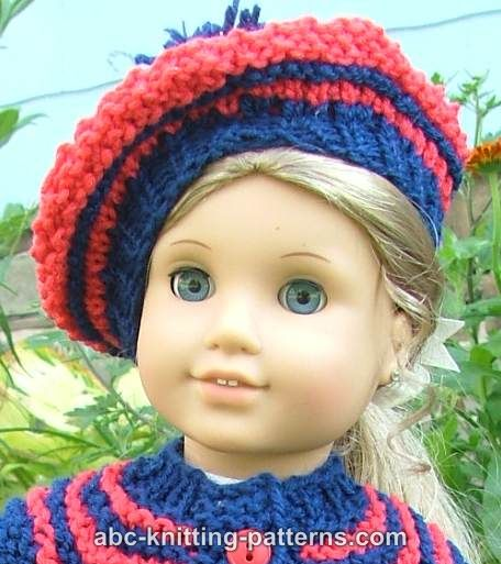 Abc Knitting Patterns American Girl Doll Beret