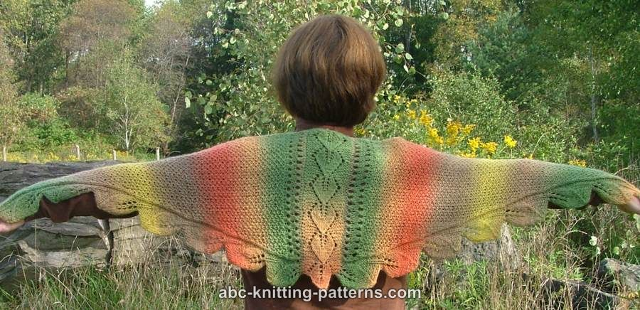 Falling Leaves Knitting Pattern : Falling leaf blanket