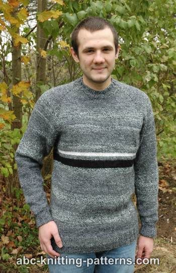 Abc Knitting Patterns Mens Top Down Raglan Sweater