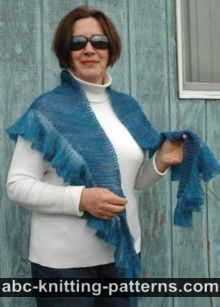 Blue Dreams Small Ruffle Shawl
