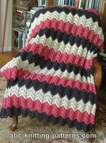 Beginner Knitting Afghan Patterns : CROCHET RIPPLE AFGHAN DIRECTIONS   Crochet For Beginners
