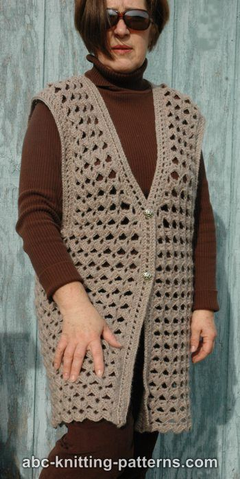 Abc Knitting Patterns Scallop Shell Vest