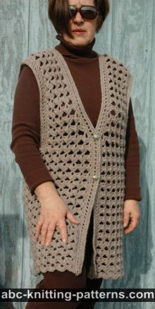 Free Knitting Pattern 60343AD Knit Sweater Vest : Lion