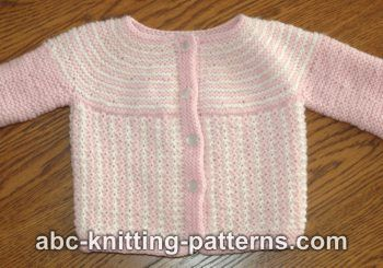 4e41f3fb05bf ABC Knitting Patterns - Round Yoke Top Down Seamless Baby Cardigan
