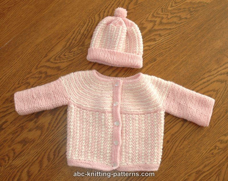 Abc Knitting Patterns Round Yoke Top Down Seamless Baby Cardigan