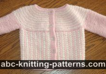 Round Yoke Top Down Seamless Baby Cardigan