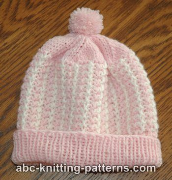 Abc Knitting Patterns Two Color Baby Hat
