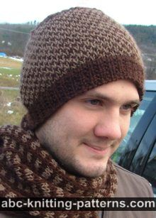 Knitting Pattern Hat Man : ABC Knitting Patterns - Knit >> For Men: 11 Free Patterns