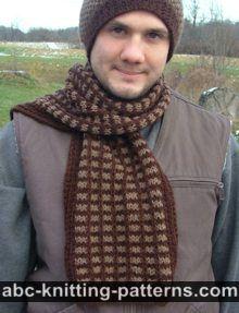ABC Knitting Patterns - Fair Isle Scarf.
