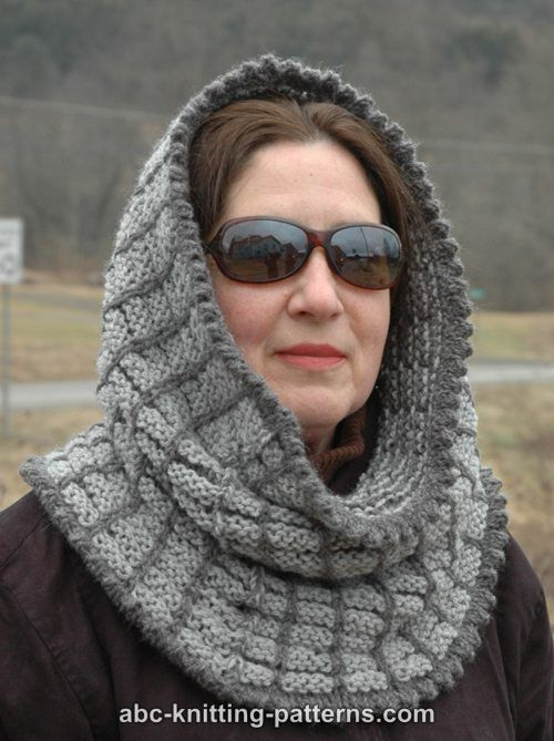 Free Knitting Patterns For Snoods : ABC Knitting Patterns - Two-Tone Snood
