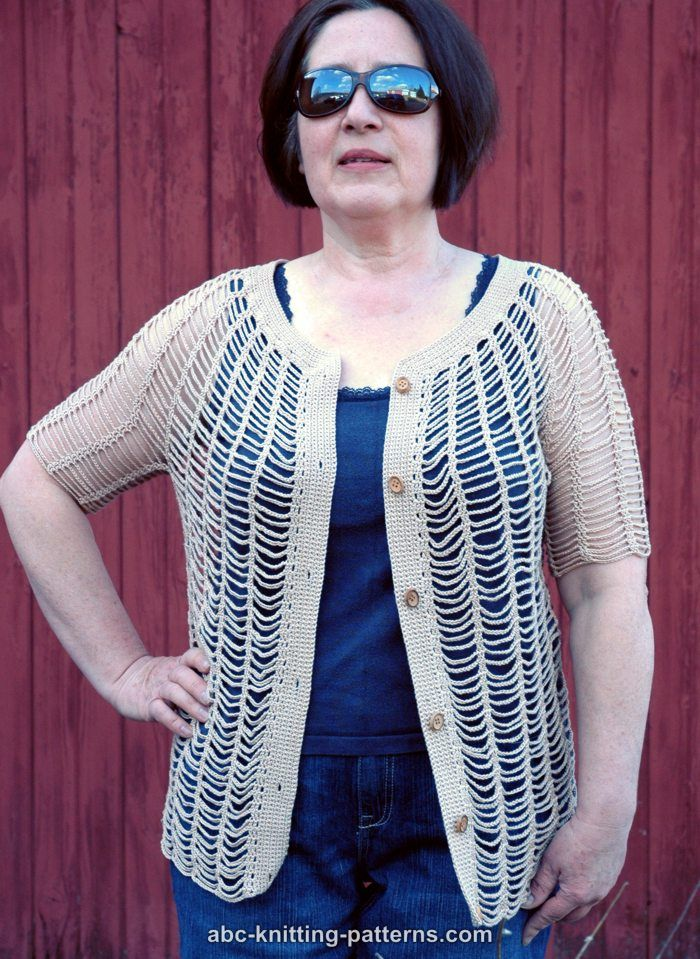 Abc Knitting Patterns Sunny Days Chain Cardigan