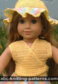 American Girl Doll Sleeveless Wrap Top