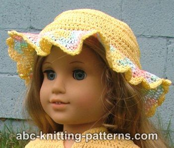 American Girl Doll Buttercup Hat