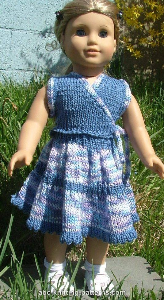 Abc Knitting Patterns American Girl Doll Sleeveless Wrap