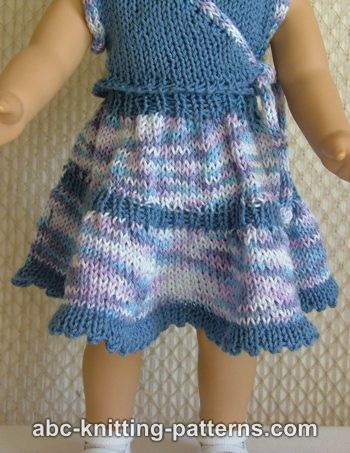 ABC Knitting Patterns - American Girl Doll Flared Two-Tier Skirt.