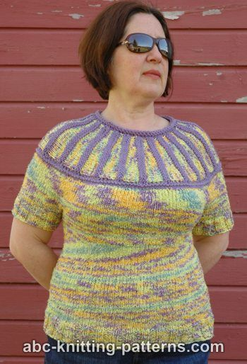 Abc Knitting Patterns Round Yoke Summer Sweater