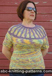Round Yoke Summer Sweater