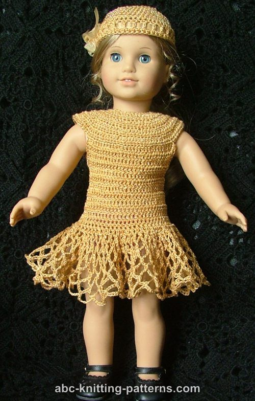 Abc Knitting Patterns American Girl Doll Cocktail Dress With Beads