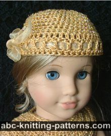American Girl Doll Cocktail Hat with Beads