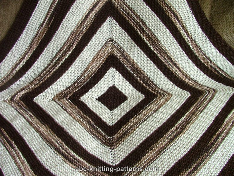 Abc Knitting Patterns Square Stripes Garter Stitch Baby Blanket