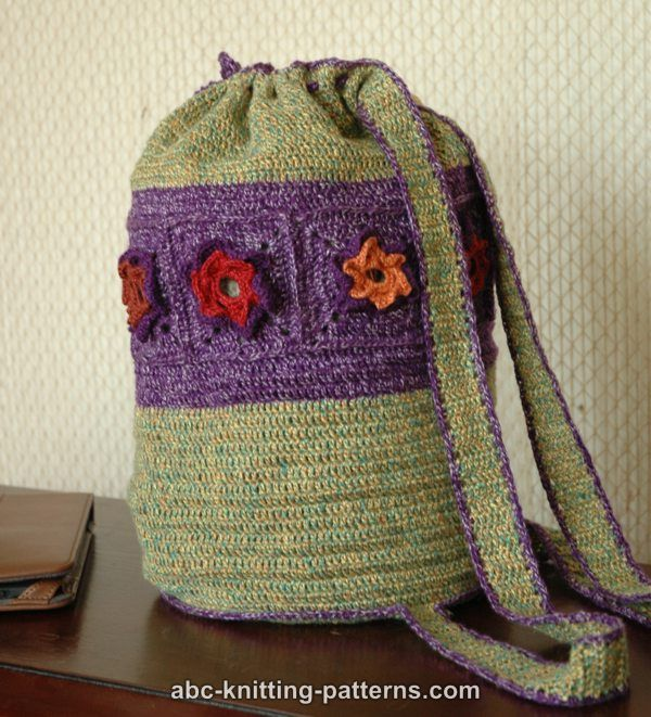 Crochet Backpack Pattern : ABC Knitting Patterns - Woodland Meadow Crochet Backpack